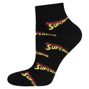 Ponožky SOXO SUPERMAN - Nápis černá 40–45