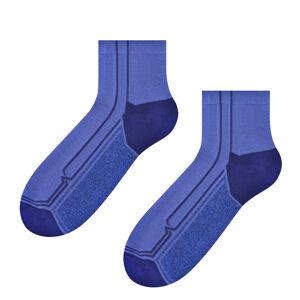 Pánské vzorované ponožky 054 jeans/modrá 41-43