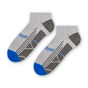 Pánské sportovní ponožky 101 SVĚTLE ŠEDÁ MELANŽ 38-40