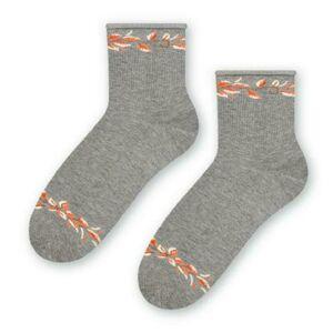 Dámské vzorované ponožky 099 MELANŻ SZARY 35-37