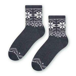 Dámské vzorované ponožky 099 MELANŻ JEANSOWY 38-40