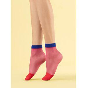 Dámské ponožky SUNSET GLOW - 8 DEN fuchsie Univerzální