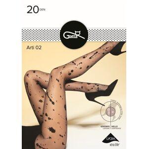 Vzorované dámské punčochové kalhoty ARTI  černá 3-M