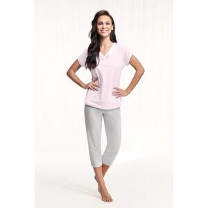 Dámské pyžamo 603 růžová L