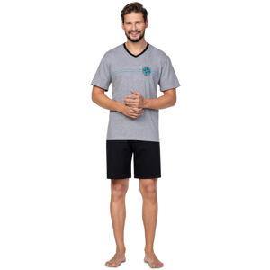 Pánské pyžamo 582 C.melanž L