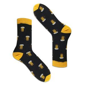 Pánské vzorované ponožky černá 41-43