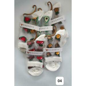 Vzorované ponožky 04 Meloun BIANCO UNIWERSALNY