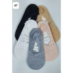 Dámské ponožky se vzorem 47 Béžový Univerzální
