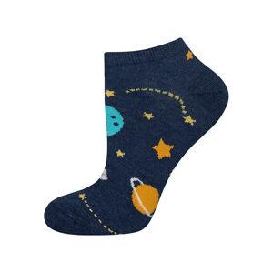 Nepárové ponožky SOXO GOOD STUFF - Vesmír GRANATOWY 40–45