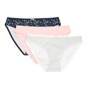 Dámské kalhotky 3-PAK MIA-MIA 39034 NAVY-ROSE-GREY S