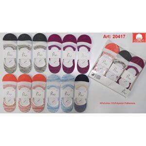 Dámské ponožky se silikonem PRO 20417 36-40 MIX MIX 36-40