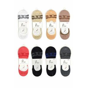 Dámské ponožky ťapky se silikonem PRO 20411 36-40 MIX MIX 36-40
