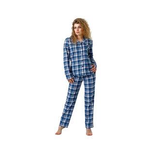 Dámské pyžamo EVLYN 1116 BÍLÁ / CAPPUCCINO XL