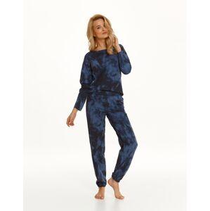 Dlouhé dámské pyžamo 2554 PENNY Zima 2021 námořnická modrá M