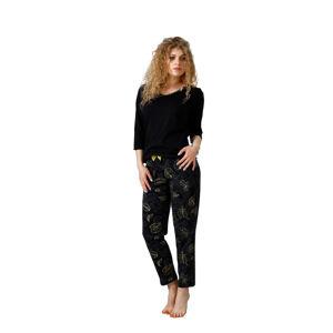 Dámské pyžamo MOLI 1101 Černá XL