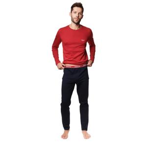Pánské pyžamo MIND 39240 POMARAŃCZ-GRANAT XL