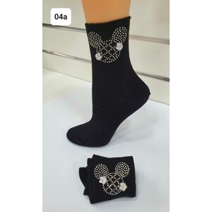 Hrubší ponožky s aplikací WZ04 NERO UNIWERSALNY