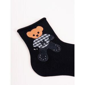 Dámské ponožky s ozdobnými kamínky SK-95