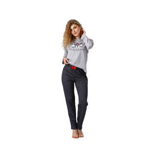 Dámské pyžamo ZARA 1119 BLACK\RED 2XL