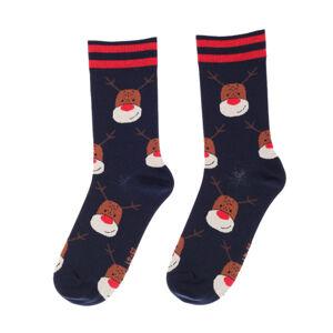 Pánské sváteční vzorované ponožky Námořnictvo 39-41