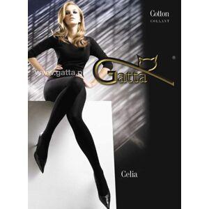 Dámské bavlněné punčochové kalhoty CELIA - GATTA černá 2-S