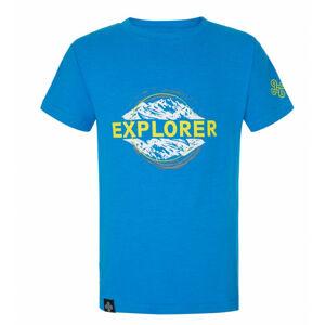 Chlapecké bavlněné tričko Salo-jb modré - Kilpi 122