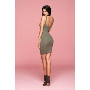 Šaty Kim Sexy Dress - ChickChick tm. béžová M