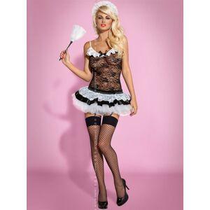 Sexy kostým Housemaid - Obsessive černá S/M
