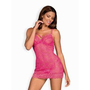 Sladká košilka 860-CHE pink - Obsessive růžová S/M