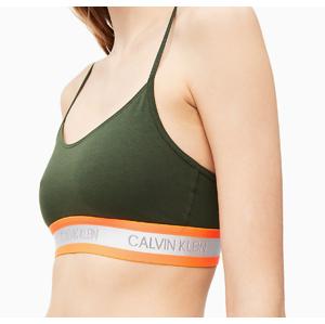 Podprsenka QF5459 - FDX Women´s Unlined Bralette - Calvin Klein khaki M