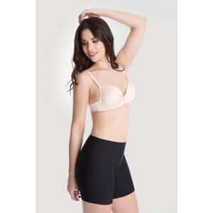 Stahovací kalhotky s nohavičkou Bermudy Comfort černá - Julimex černá 2XL
