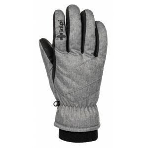 Unisex lyžařské rukavice Tata-u světle šedá - Kilpi M