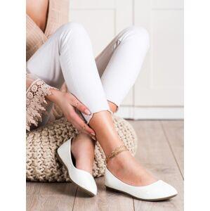 Trendy  baleríny dámské bílé bez podpatku 37