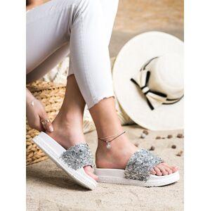 Trendy dámské  nazouváky bílé bez podpatku 36