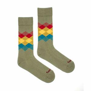 Veselé ponožky Fusakle kosočtverec les (--0807) M
