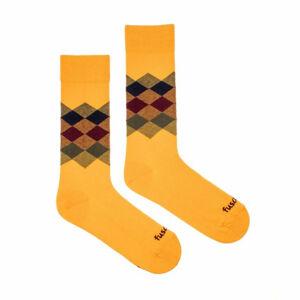 Veselé ponožky Fusakle kosočtverec léto (--0808) L