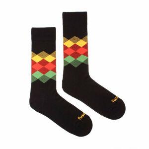 Veselé ponožky Fusakle kosočtverec noc (--0809) L