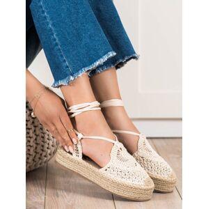 Výborné hnědé dámské  sandály bez podpatku 36
